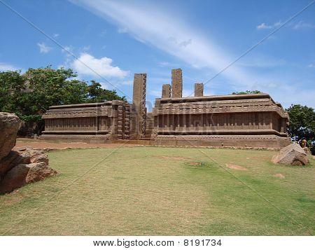 Temple Remains, Mahabalipuram, India