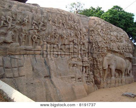 Arjuna Penance, Mahabalipuram, India