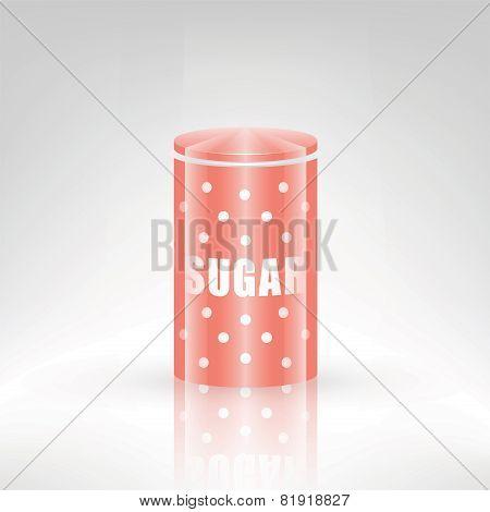 Sugar metal can