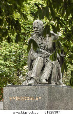 Statue Of Pavol Orszagh Hviezdoslav In Bratislava, Slovakia