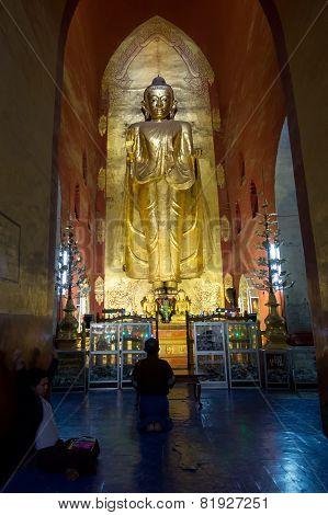 Standing Buddha in Bagan