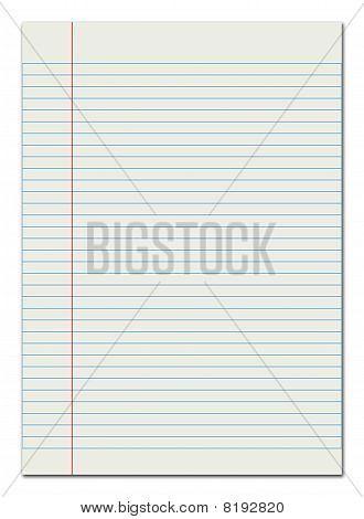 Lined Paper Red Margin