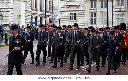 Veterans Parade. London. Uk.
