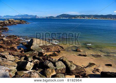 Green sea beach in Niteroi Rio de Janeiro Brazil