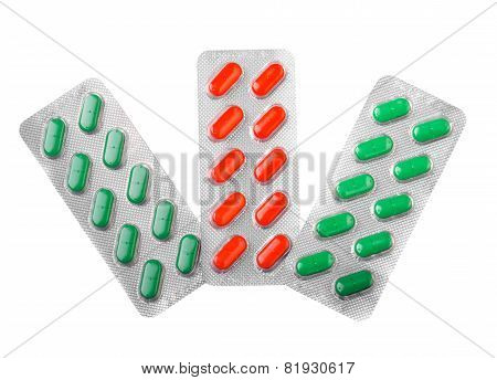 Three Blisters Of Pills