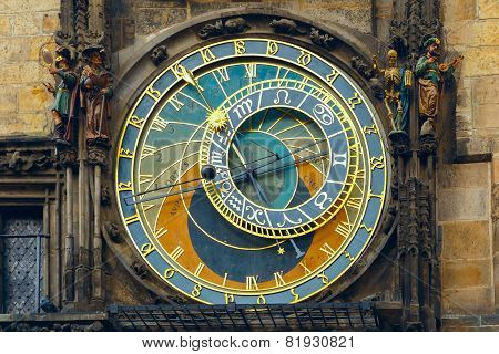 Prague Astronomical Clock Orloj in the Old Town Square