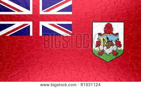 Bermuda flag on metallic metal texture