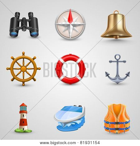 Marine set icons