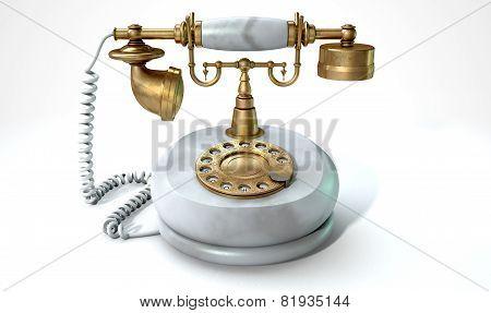 Vintage Marble Telephone