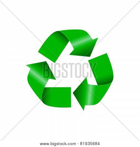 Recycle icon isolated on white background. Vector illustration