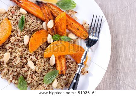 Grilled vegetables with quinoa