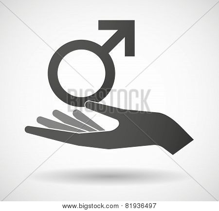 Hand Giving A Male Sign