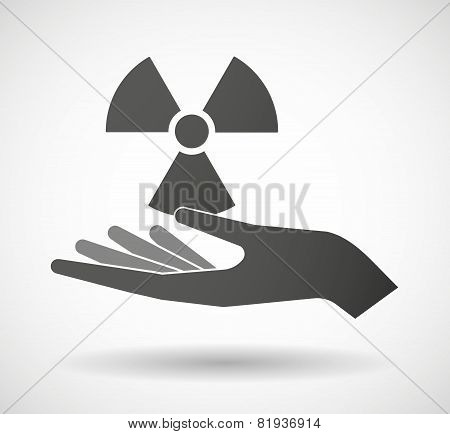 Hand Giving A Radio Activity Sign