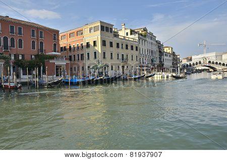 The Rialto Bridge In The Grand Canal