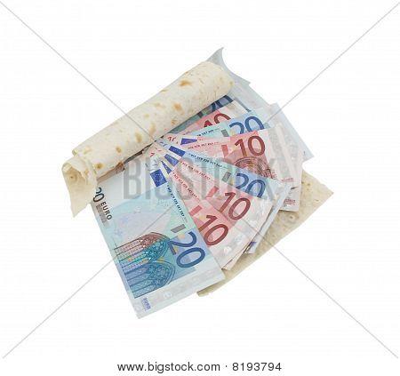 Lavash And Euro Banknotes