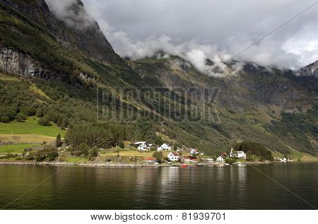 Landscape near Neyroforda. Norway.