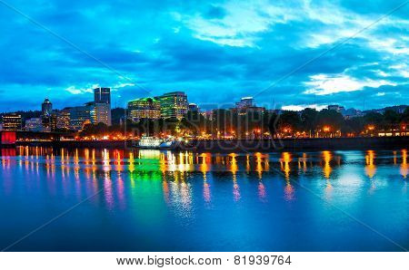 Downtown Portland Cityscape