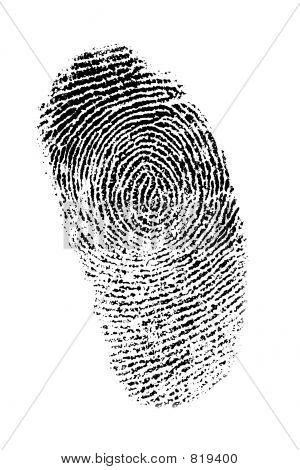 Finger print auf weißem Hintergrund, gute detail
