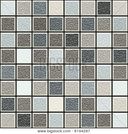 Grey And Brown 3D Structure Tiles Pattern