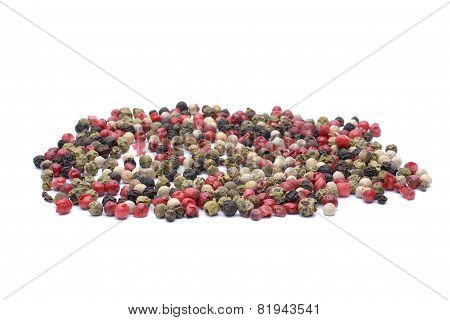 Pepper Spice On White Background