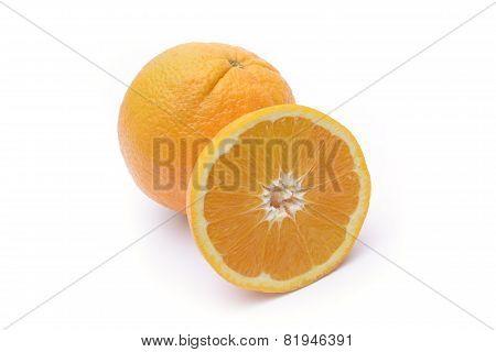 Orange Fruit On White