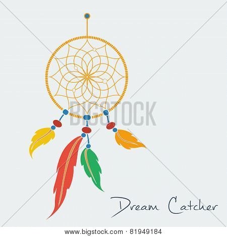 vector dream catcher color