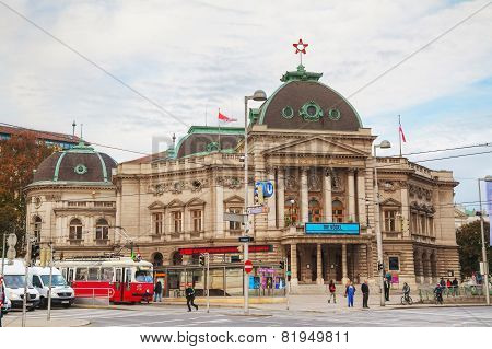 Volkstheater In Vienna, Austria In The Morning