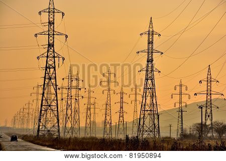 electricity poles network