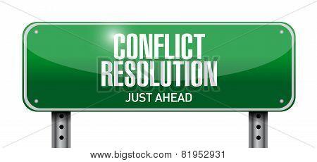Conflict Resolution Road Sign Illustration Design