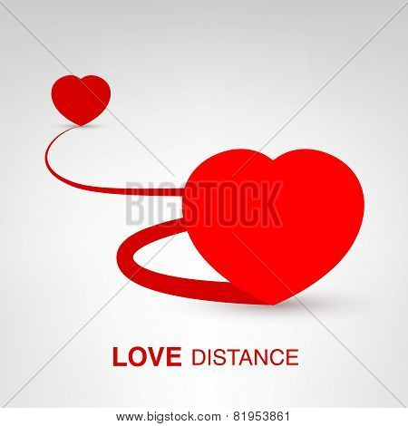 Valentine's Day creative concept - Love Distance