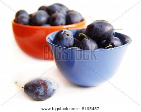 Plums On The Plates
