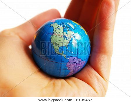 Earth Globus In Hand