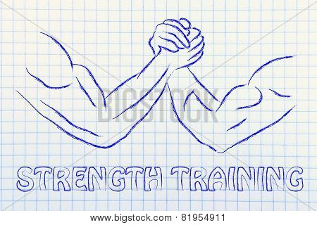 Trial Of Strength, Arm Wrestling Design: Strength Training