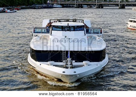 The Thames river cruise boat