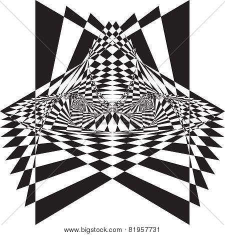 Arabesque Tridimensional Illusion Throne