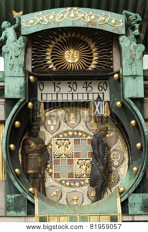 Famous Historical Figures Clock In Vienna, Austria