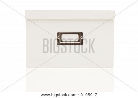 Blank White File Box With Lid On White