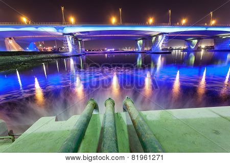 Sewage Pipes at Dubai Creek