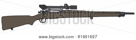 Old military sniper rifle