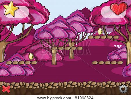 Seamless cartoon forest landscape