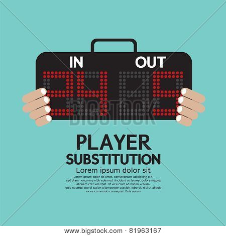 Player Substitution Sport.