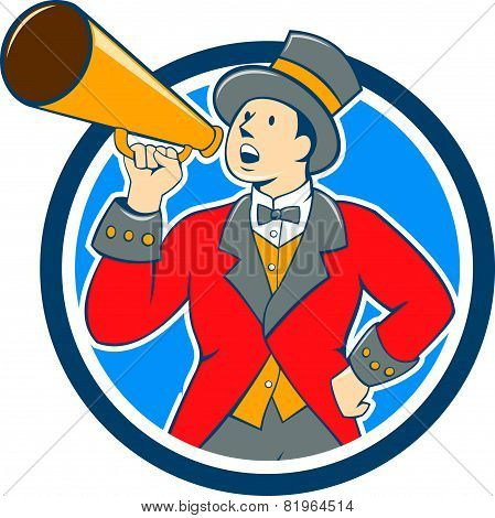 Circus Ringmaster Bullhorn Circle Cartoon