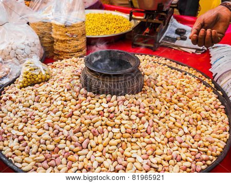 Peanuts At Street Market In Jaisalmer Fort