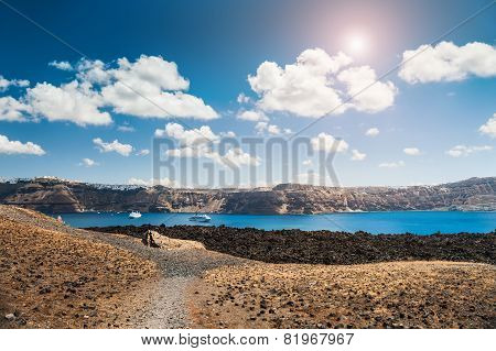 Sea View On The Greek Islands