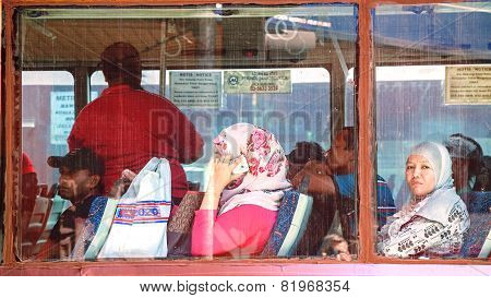 Passengers Of City Bus.
