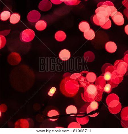Christmas Garland With Red Bulbs