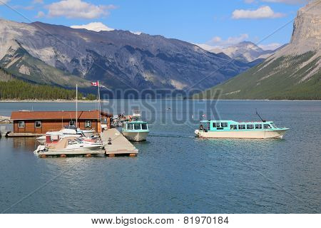Lake Minnewanka Cruise Boats in Banff National Park