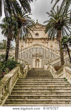 Staircase In Birth Of Our Lady Church, Montenegro
