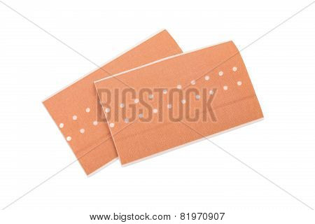 Two Patches On A White Background