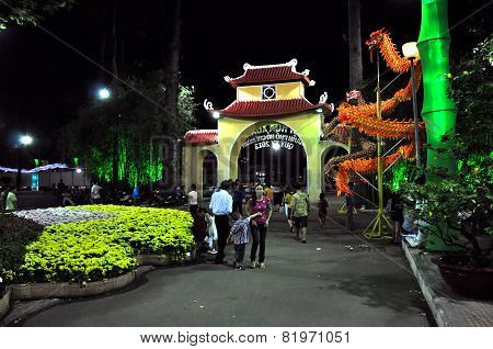 Tet Chinese Lunar New Year Celebration In Ho Chi Minh, Vietnam